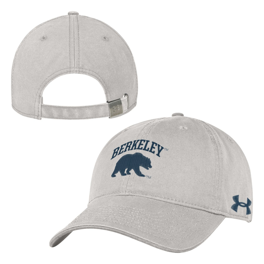 UC Berkeley Cal Under Armour Men's Low Profile Hat-Stone-Shop College Wear