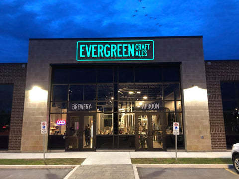 Evergreen Craft Ales in the evening