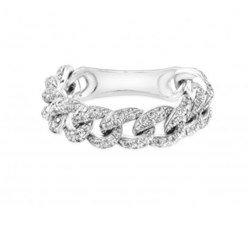 diamond floating with channel two band tone set bands shoulders and wedding