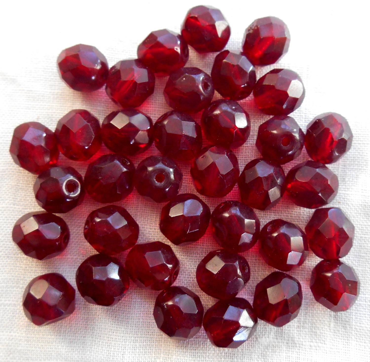 Red Ruby Beads