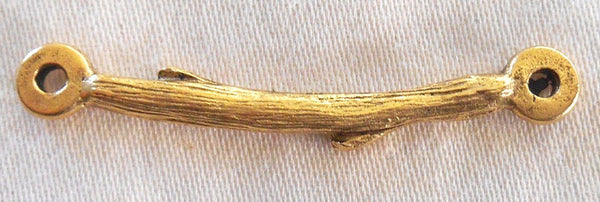 Antique 24K gold plated pewter branch, twig, connector bar, Nunn Designs, 31 x 3mm, C5601 - Glorious Glass Beads