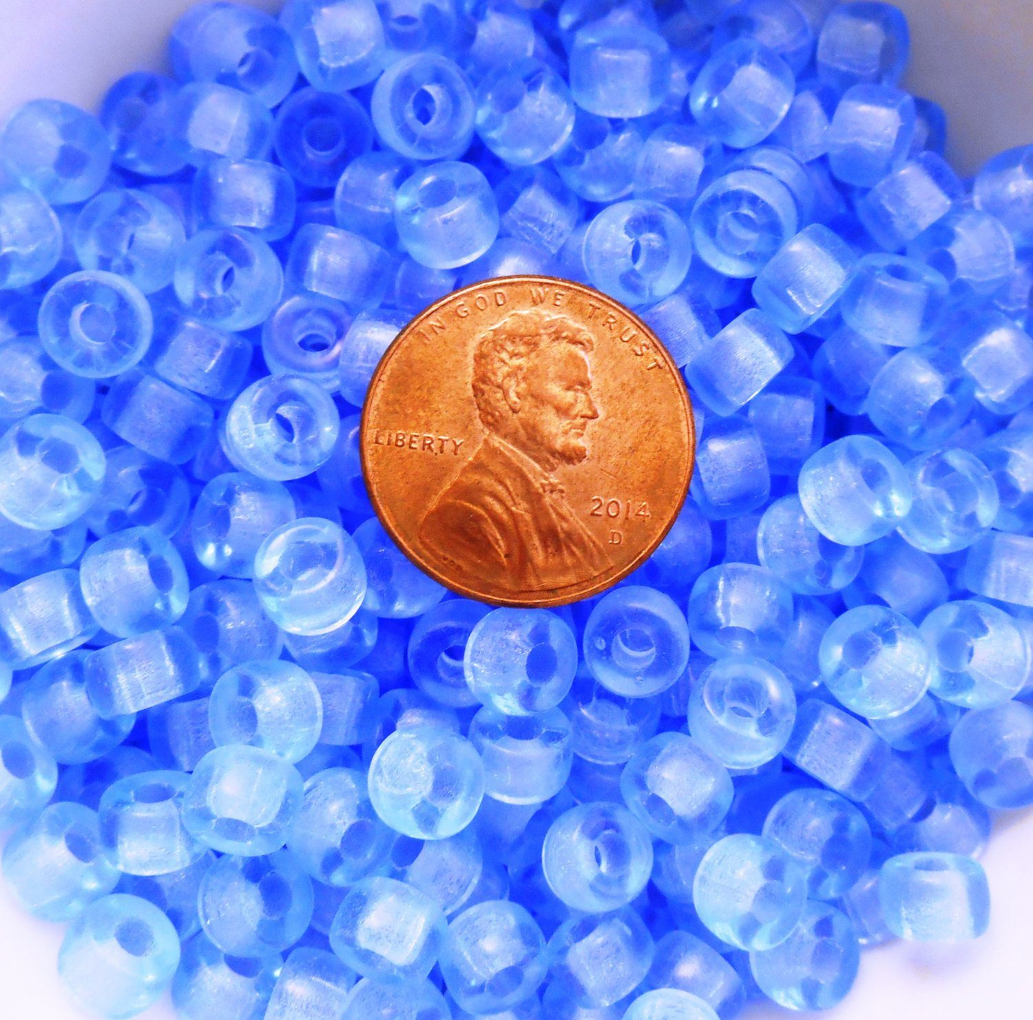 holes druk round light products of czech blue glass supplies lot smooth hole sapphire beads with big