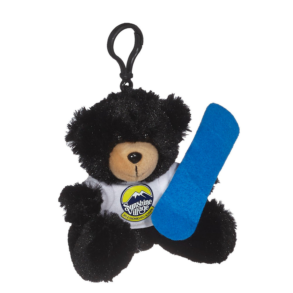 Mini Bear w/Snowboard & Backpack Clip
