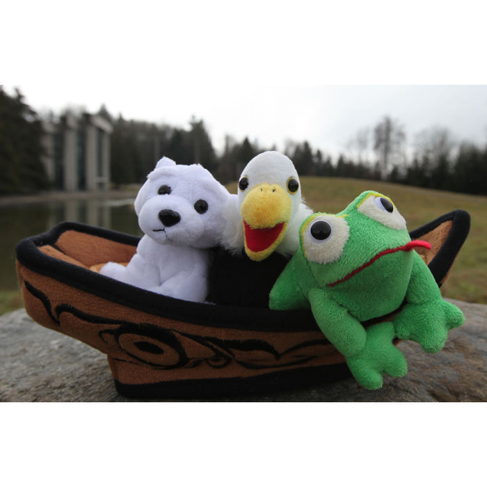 "Culture Crew 12"" Canoe with 3 Finger Puppets"