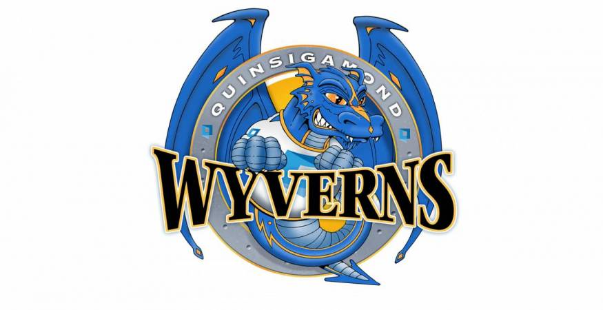 The Wyvern the mascot of Quinsigamond Community College