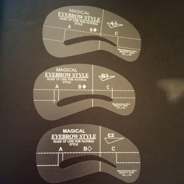 Eyebrow Stencil 3-Pack - Uptown Beauty Pro