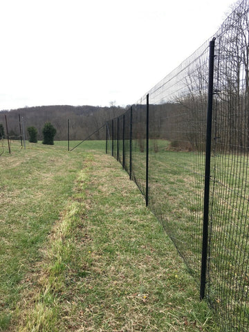 Steel Fencing Post Installed With Various Welded Wire Mesh Fences