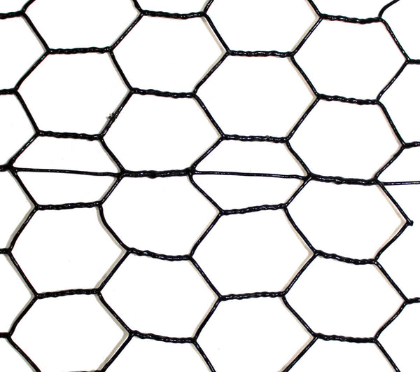 7 5 X 100 Steel Hex Web Blk Pvc Coated Fence
