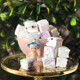 Blueberry flavoured handmade marshmallows