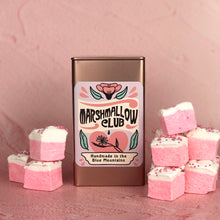 Load image into Gallery viewer, Gift tin with Strawberries and Cream Marshmallows