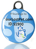 PetHealthlocker SMART Pet Tag Small Blue - Small / Blue