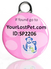 PetHealthlocker SMART Pet Tag Small Pink - Small / Pink