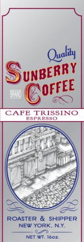 Sunberry's Cafe Trissino Espresso, One Pound, Beans