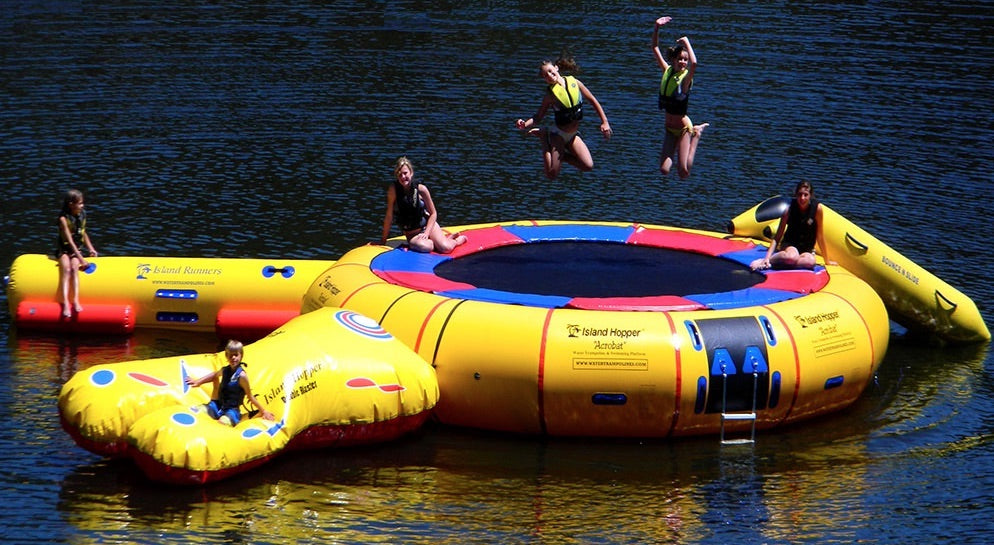 Outrageously Fun Games to Play on Your Floating Trampoline or Water Bouncer