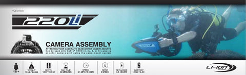 Yamaha 220Li Sea Scooter with GoPro Mount Specifications and Buyers Information.  Yamaha Sea Scooters for Sale