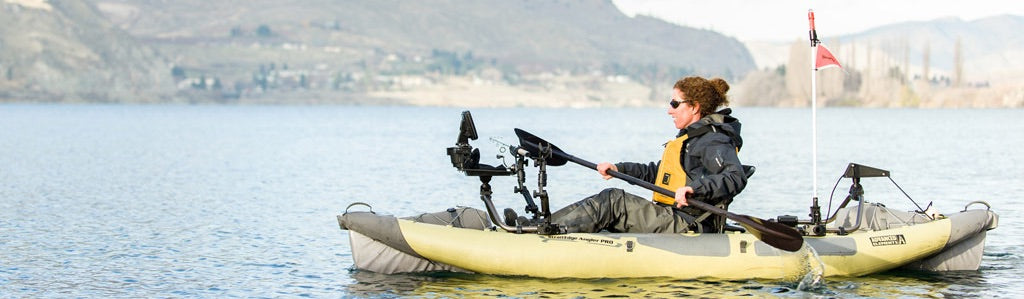 Advanced Elements Inflatable Fishing Kayak for Sale on the Water