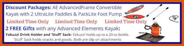 Advanced Elements AdvancedFrame Convertible Inflatable Kayak Discount Packages and Free Gifts