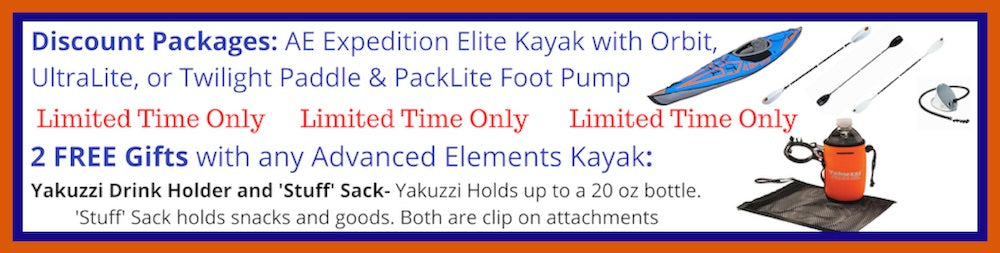 Advanced Elements Expedition Elite Inflatable Kayak Packages and Free Gifts
