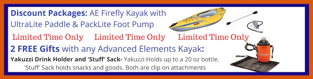 Advanced Elements FireFly 1 Person Inflatable Kayak Discount Packages and Free Gift