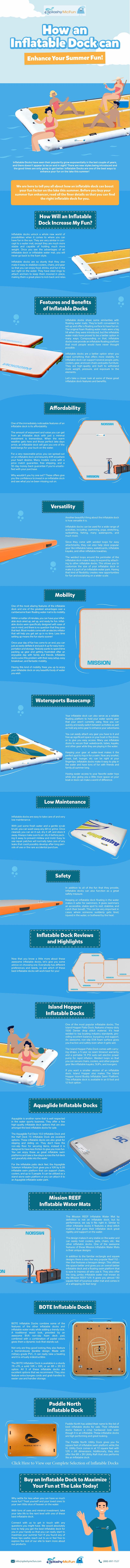Lake Life: How an Inflatable Dock Can Enhance Your Summer Fun Infographic. All of the information in the blog is illustrated with text also.