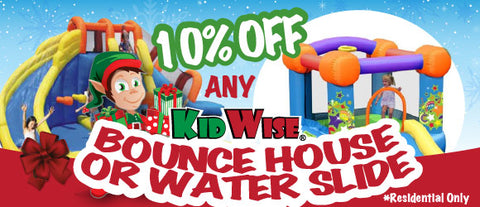 KidWise Bounce Houses and Water Slides 10% Off! Limited Time