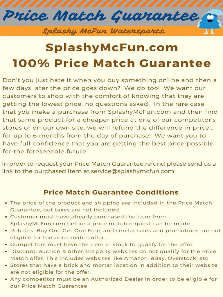 SplashyMcFun.com Price Match Guarantee | Splashy McFun Watersports