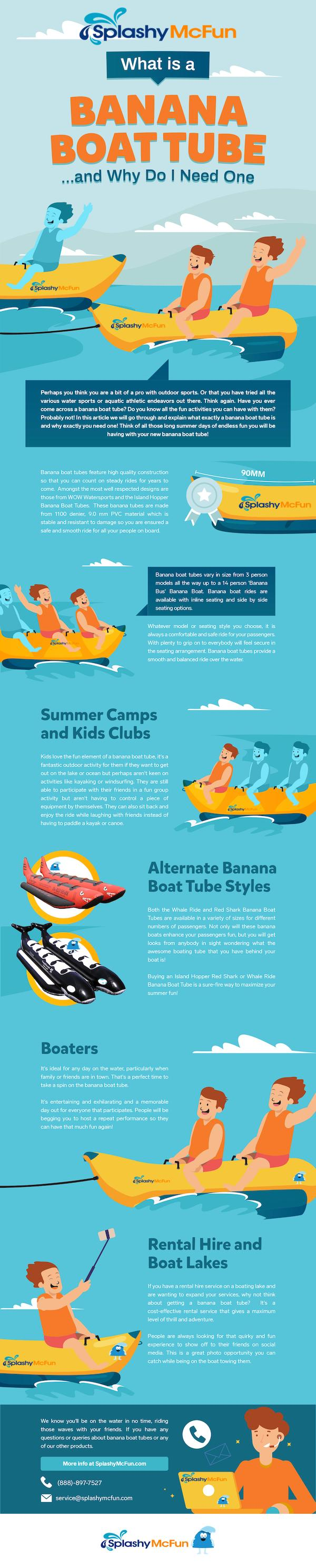 What is a Banana Boat Tube and Why Do I Need One?  An Infographic