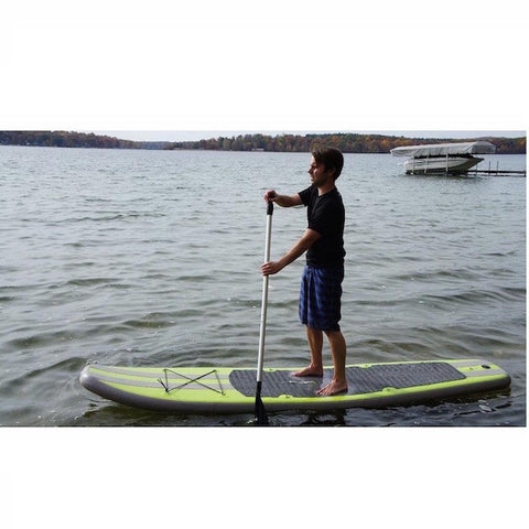 Outdoor Tuff 10ft Inflatable Stand Up Paddle Board (SUP) riding on the lake