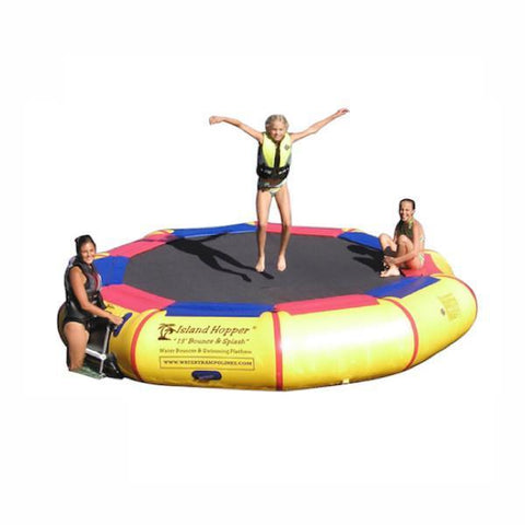 Island Hopper Water Bouncer - 170ft Bounce N Splash Inflatable Water Bouncer