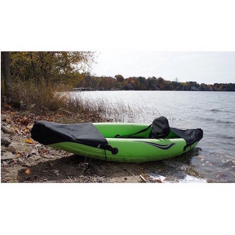 Outdoor Tuff Stinger III 1 Person Inflatable Sport Kayak lakeside