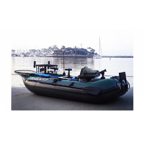 Sea Eagle 285 Frameless Inflatable Fishing Boat next to the water