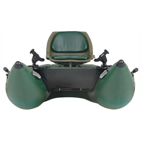 Sea Eagle 285 Frameless Inflatable Fishing Pontoon Boat front view closeup