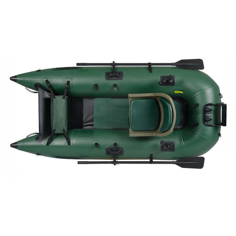 Sea Eagle 285 Frameless Inflatable Fishing Boat Top view close up.