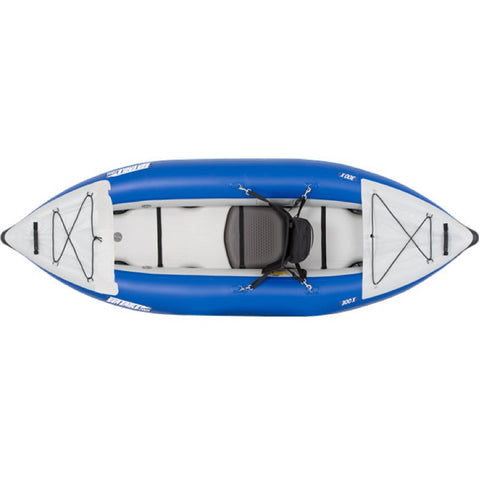 Sea Eagle Explorer 300X Solo Inflatable Kayak top view.