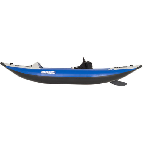 Sea Eagle Explorer 300X Solo Inflatable Kayak side view.
