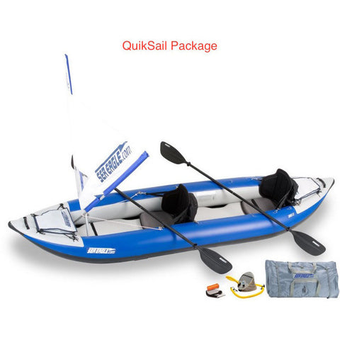 Sea Eagle Explorer 380X Inflatable Tandem Kayak QuikSail Package.
