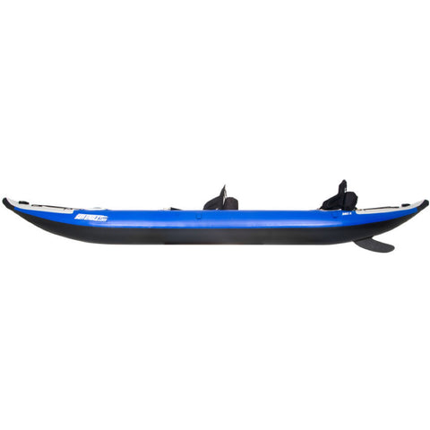Sea Eagle Explorer 380X Inflatable Tandem Kayak side view.