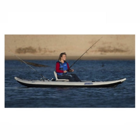 Sea Eagle FastTrack 385FT Inflatable Kayak girl fishing