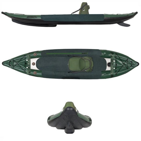 Sea Eagle 385fta FastTrack Angler Inflatable Kayak - Kayak -  Sea Eagle - Splashy McFun - top front and side view