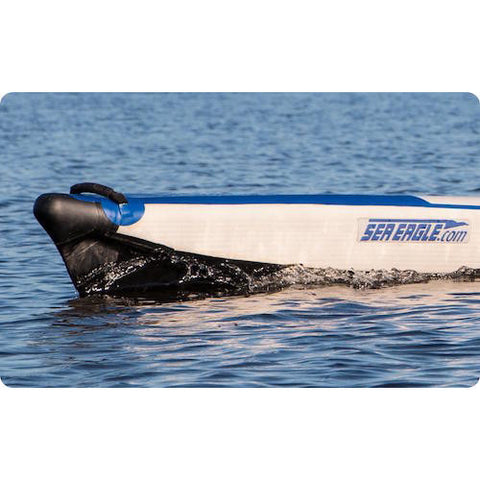 Sea Eagle RazorLite 393rl Inflatable Kayak nose cutting thru the water.