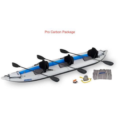 Sea Eagle FastTrack 465FT Inflatable 3 Person Kayak Pro Carbon Package