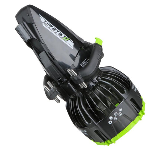 Yamaha 500Li Sea Scooter  underview to show ballasts that can be used to adjust the buoyancy of the under water scooter.