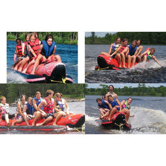 Island Hopper 6 Person Red Shark Banana Boat Towable