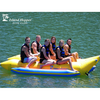 Image of Island Hopper 6 Person Towable Banana Boat Tube side view of 6 people on the side by side inner tubes.