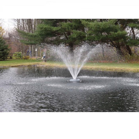 Easy Pro ACF2 Floating Pond Fountain Head with Wide Umbrella Nozzle sprays a nice wide spray in the middle of a pond.