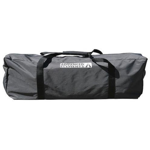 Black carry bag for the Advanced Elements Solo AdvancedFrame Inflatable Kayak