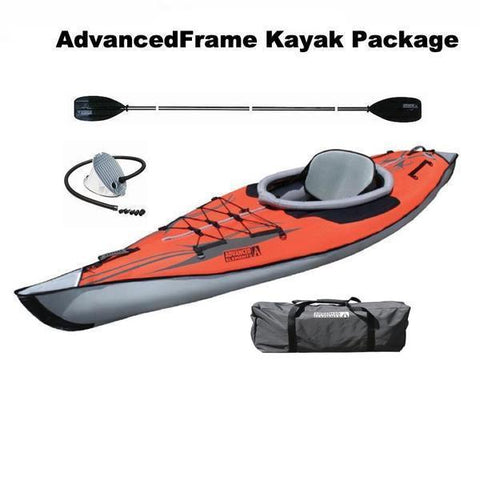 Advanced Elements 1 Person AdvancedFrame Inflatable Kayak Discount Package