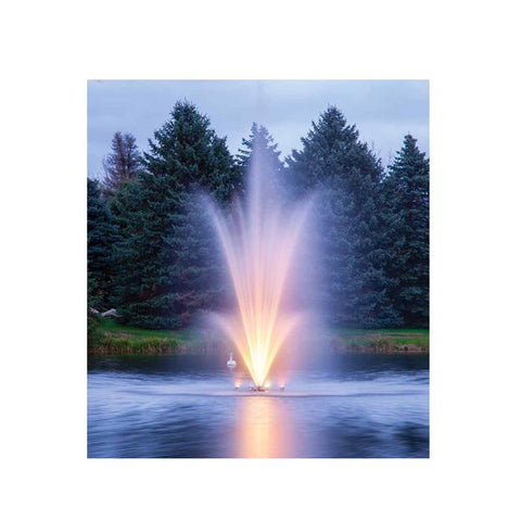 Scott Aerator Amherst Floating Pond Fountain with Light Kit