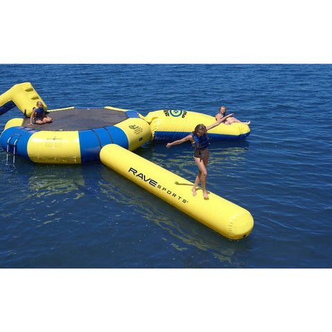 Rave Aqua Log - Water Park Attachment -  Rave - Splashy McFun - top view on the water
