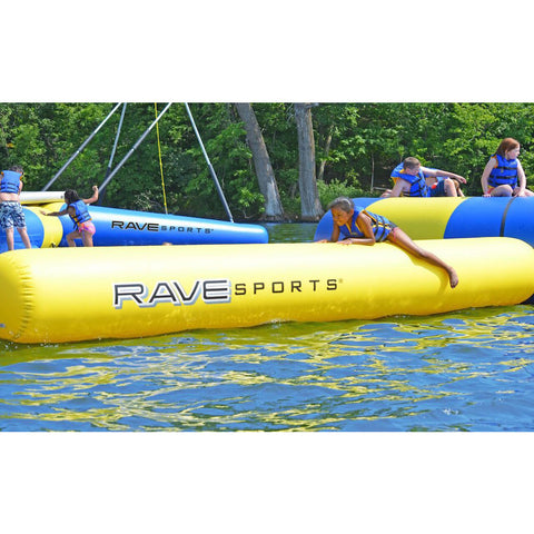 Rave Aqua Log - Water Park Attachment -  Rave - Splashy McFun - yellow side view